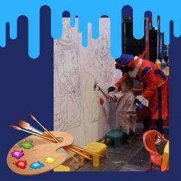 Kunst 4 Kids met levensgroot schilderij huren of boeken