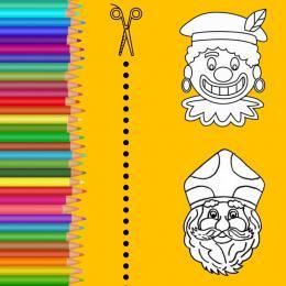 Kris-Kras Sint en Piet Masker Terras