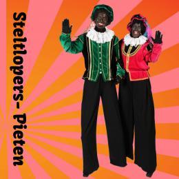 Steltlopende Zwarte Pieten inhuren of boeken