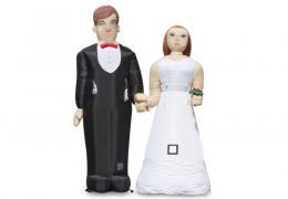 Opblaasbaar bruidspaar huren | Partyspecialist.nl