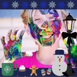 Kunst 4 Kids met Winter tekening | Sint en Kerst