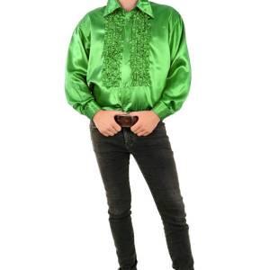 Groene disco blouse Partyspecialist