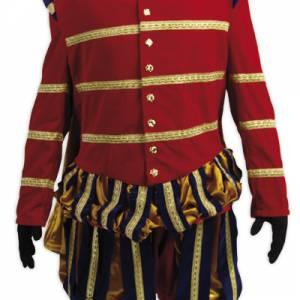 Luxe Hoofdpiet kostuum rood huren