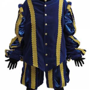 Luxe Hoofdpiet kostuum blauw huren