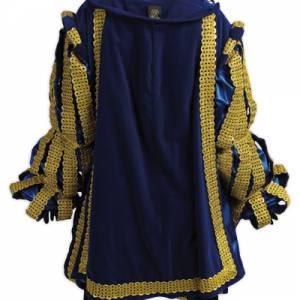 Luxe Hoofdpiet kostuum in de kleur blauw huren