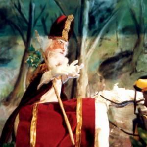 Peter, Lies & de staf van Sinterklaas inzetten