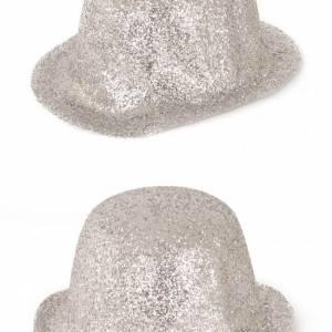Bolhoed glitter zilver Partyspecialist