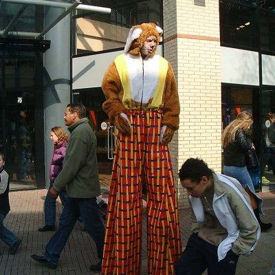 Foto van 2 Steltlopers - Paashazen | Attractiepret.nl