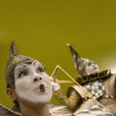 Foto van De Nar en Harlekijn - Straattheater | Clownshow.nl