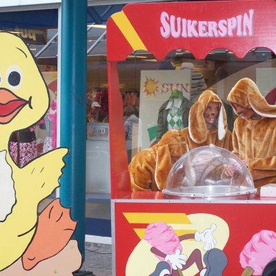 Paashazen Suikerspinstand inzetten?