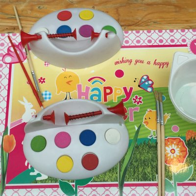 Inzetten van Kids Workshop Paasei Schilderen