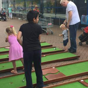 Minigolfbanen voor open dag huren
