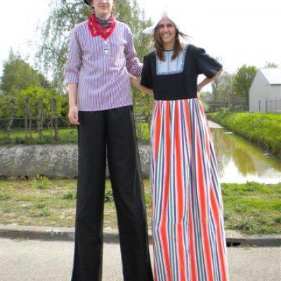 Fotoalbum van 2 Steltlopers - Boer & Boerin | Attractiepret.nl