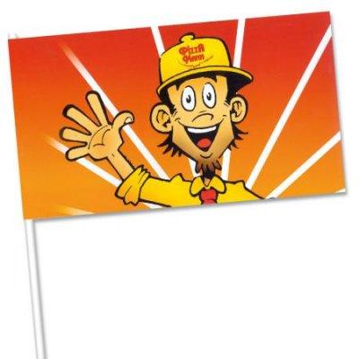 Uitdeelactie Een, twee, drie, vier ... vlaggetjes van papier inhuren