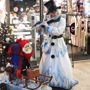 Mobiele Sneeuwpop met muziek
