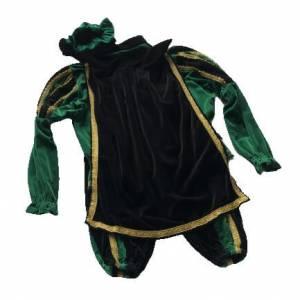 Piet kostuum groen zwart achterkant