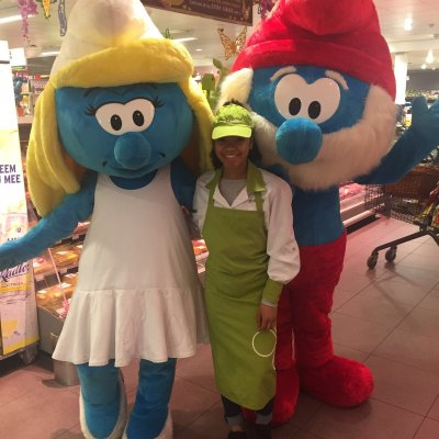 Smurfin en Grote Smurf meet and greet