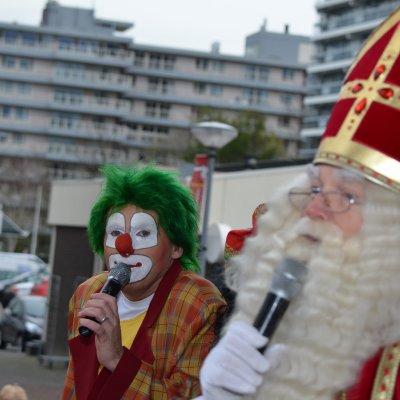Clown Jopie en Sinterklaas