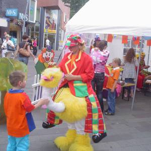 Gerritje Grijpgraag en Clown Dompie