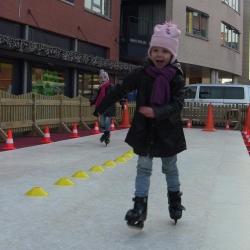 Foto van Wedstrijd Schaatsbaan Sprinten 21 meter | Kindershows.nl