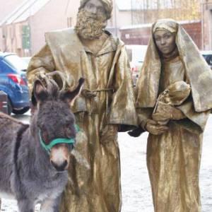 Levende Standbeelden Jozef en Maria boeken?