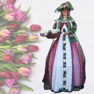 Steltloop Act - Lady Flower Boeken of Inhuren?
