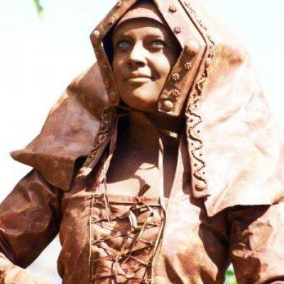 Levende standbeelden jonkvrouw en koopman boeken bij jb productions - Fotos van levende ...
