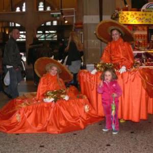 Mobiele Tafeldames oranje