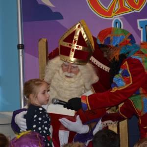 Op schoot bij Sinterklaas