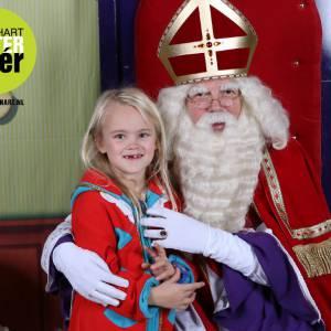 Op de foto met Sinterklaas in een winkelcentrum