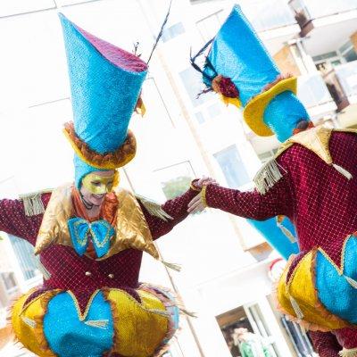 De Circus Parade inzetten