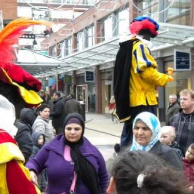 Fotoalbum van 2 Steltlopers - Zwarte Pieten | Attractiepret.nl