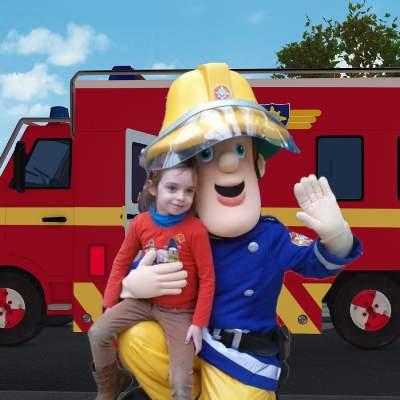 Foto van Op de foto met - Brandweerman Sam - Greenscreen | Looppop.nl