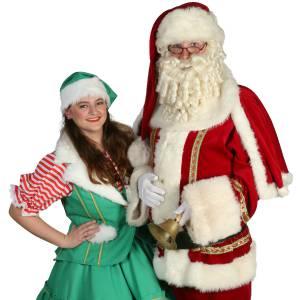 De Kerstman en het Kerstvrouwtje delen Kerstkransjes uit boeken?