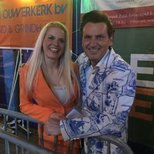 Presentator Jeroen van de Hollandse Bingo Show