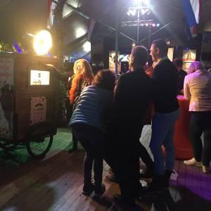 Selfie maken bij Hollandse Selfie Bakfiets
