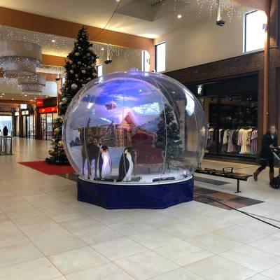 Snowglobe huren voor overdekt winkelcentrum