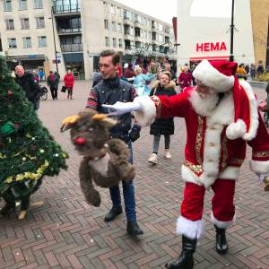 Kerstman met Rudolph inzetten?