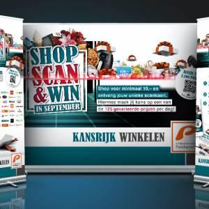 Shop, Scan & Win actie voor in Winkelcentrum