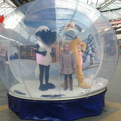 Photobooth Snowglobe met Shaun