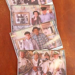 De Nostalgische fotograaf met ouderwetse fotocamera inzetten