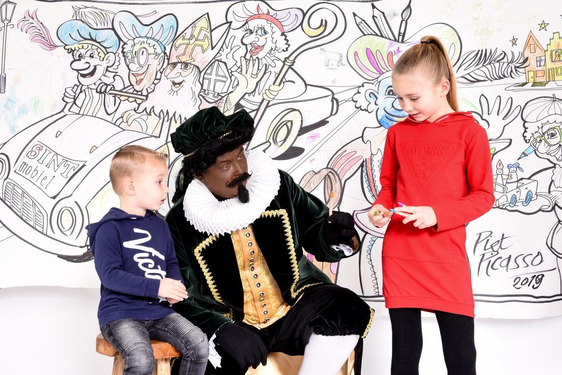 Kleurplaten Van Baby Piet.Piet Picasso S Mega Kleurplaat Boeken Of Inhuren Sinterklaasshow Nl