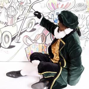 Mega Kleurplaat met Piet Picasso boeken