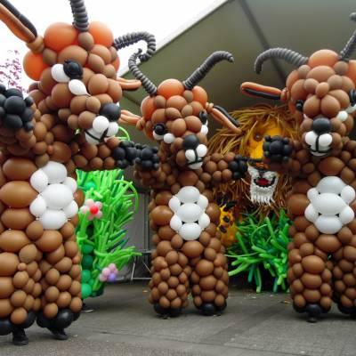 Fotoalbum van Levende Ballon Figuren | Attractiepret.nl