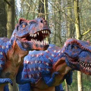 Dinosaurus Duo - Straattheater Act inzetten of boeken