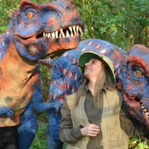 Straattheater Act - Dinosaurus Duo inzetten