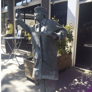 Living Statue Monsieur Baguette