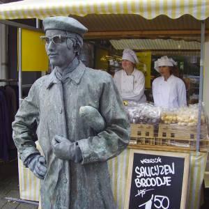 Living Statue Monsieur Baguette inhuren