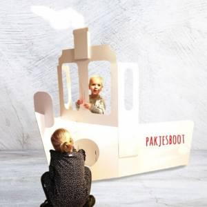 Kartonnen Stoomboot van Sinterklaas