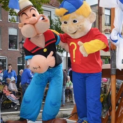 Popeye tijdens Kids Heroes Cruise